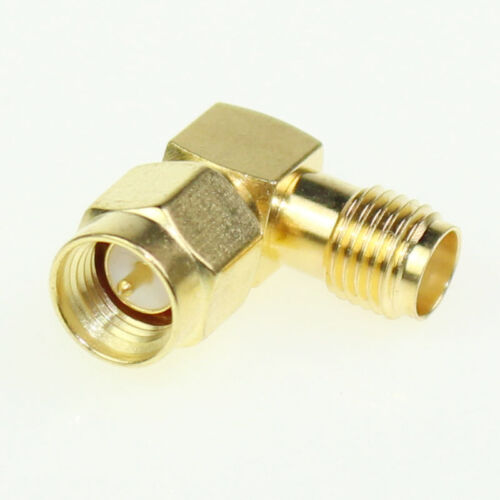 SMA Male To SMA Female RF Connector Adapter Plug Jack 90 Degree Right Angle Lot