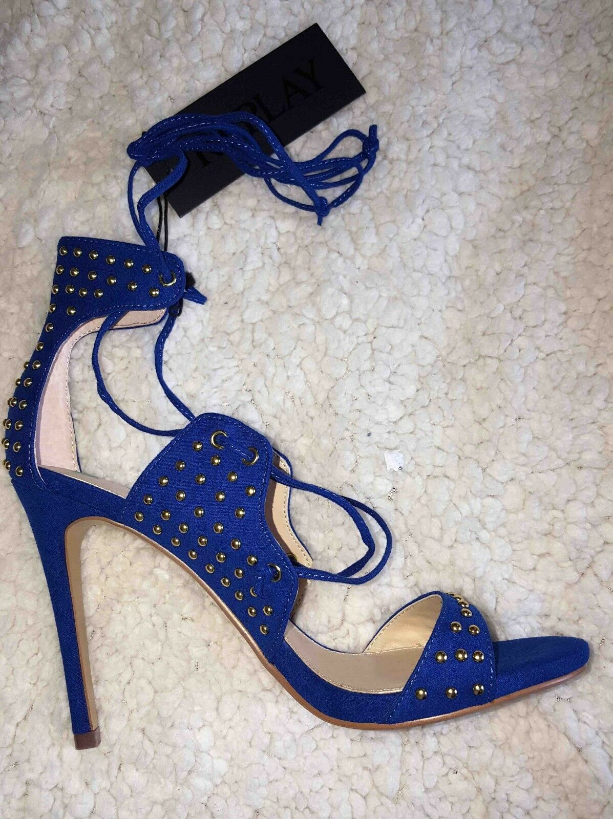 REPLAY SIZE Blau STILETTO HEEL Schuhe SIZE REPLAY UK4 EU37 aa583d