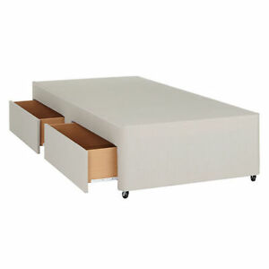 Image Is Loading Single Divan Bed Base With Storage Options 3ft