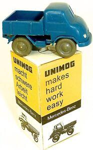 Unimog-Tole-Bleu-Wiking-1-87-Emballage-D-039-Origine-en-Carton-A