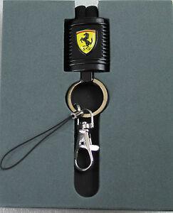 Ferrari-brandon-Lanyard-motor-parte-identificacion-bolso-llavero-negro-nuevo