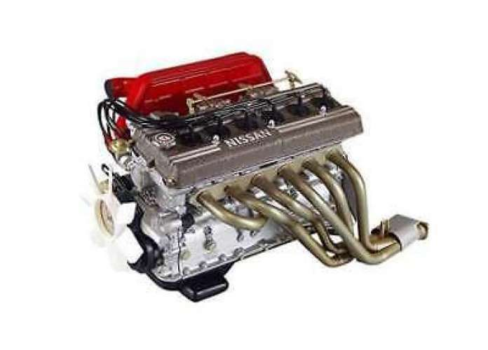NOSSAN Skyline GT -R S20 Motor 1  6 - skala färdig modellllerl KUSAKA ENG från japan