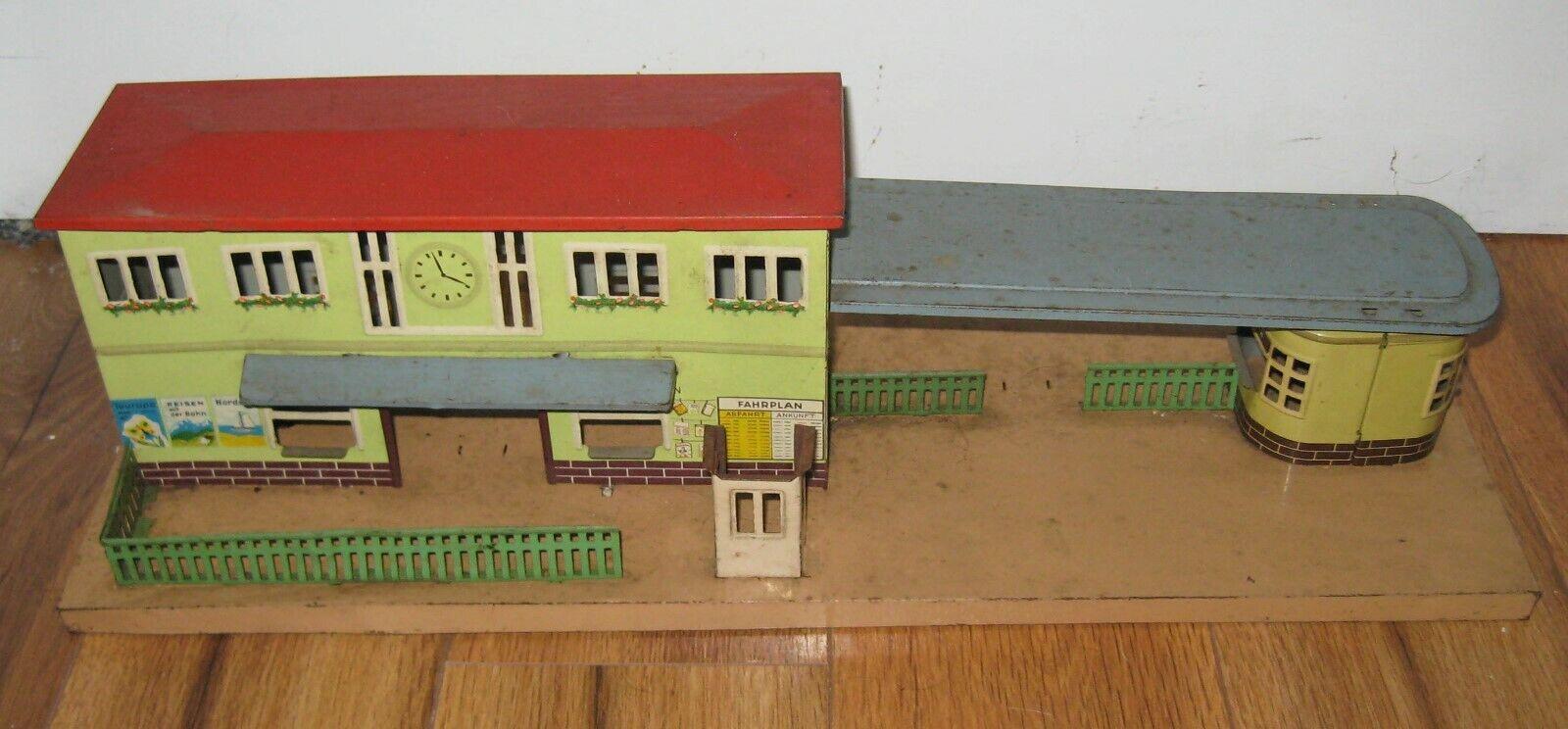 Antique German Kibri Karl Bub KBN KB Tin Train Station Vintage Marklin Bing Rare