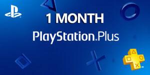 1 Month PlayStation PS Plus PS4-PS3 -Vita (2)14 Days Membership  ( NO CODE )