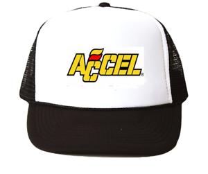vintage Accel Trucker Hat mesh hat black New racing hat