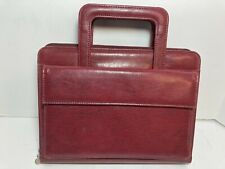 Franklin Covey 365 Dark Red Faux Leather Full Zip Around 7 Ring Planner Handles