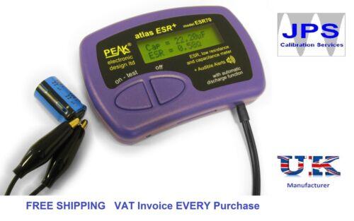 ESR and Capacitance Meter Peak Atlas ESR70 ESR Plus JPST003  VAT Invoice pm7