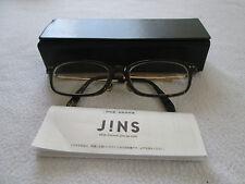 JINS CLASSIC MARRONE TARTARUGA/GOLD occhiali da vista Frames. con Custodia. ccf-13-0188.