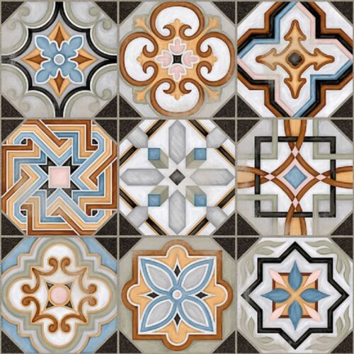 Victorian Central Patterned Ceramic Floor Tile 31.6 x 31.6