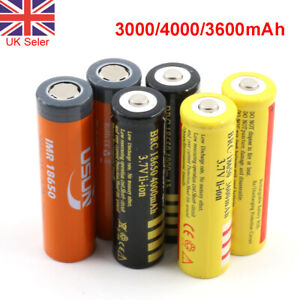 18650 3.7V 3600mAh Rechargeable Li-ion Lithium Cell Battery for Power tool Torch