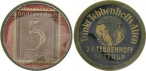 Germany Briefmarkenkapselgeld 5 Pfennig Xf-Bu 51771
