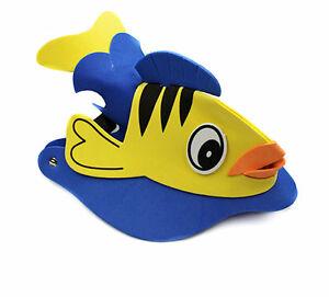 Fish-Animal-Foam-Kid-Ball-Party-Fancy-Dress-Costumes-Hat-Cap-Visor-New