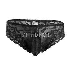 Men Lace Underwear G-string Thongs Boxer Bikini Brief Trunks Lingerie Underpants