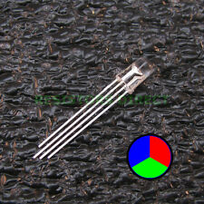 25pcs RGB LED Water Clear Lens 5mm Common Cathode 4-Pin Red Green Blue 25x V34
