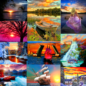 DIY-Sunset-Paint-By-Number-Kit-Digital-Acrylic-Oil-Painting-Art-Wall-Home-Decor