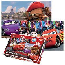 Trefl 2 in 1 24+48 pezzi per Bambini Disney Pixar MACCHINE TOKYO PARIS PUZZLE
