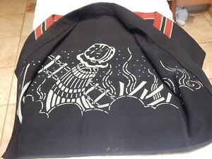 Vintage Aizome Japanese hanten padded jacket for Firefighter Happi Coat