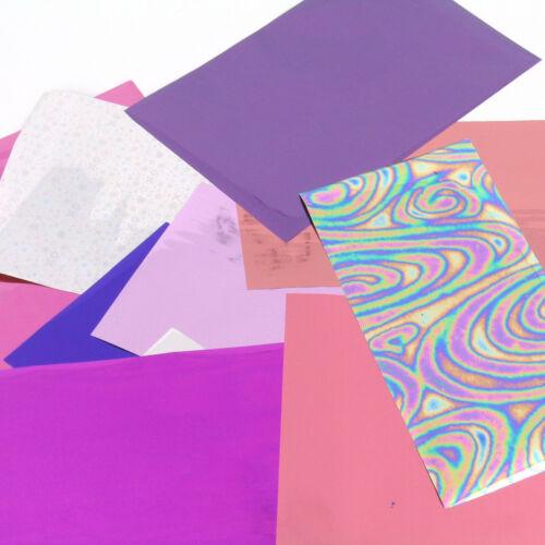 starter Foiling kit taster selection pack of pink /& lilac rub on foils craft