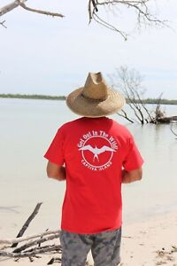 034-Get-Out-In-The-Wild-034-Red-Cotton-T-shirt-short-sleeve-Adult-Sizes-S-XL