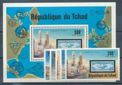 Briefmarken Tschad Nr.775-9+bl.68** Zeppeline Luftfahrt Sporting 584406