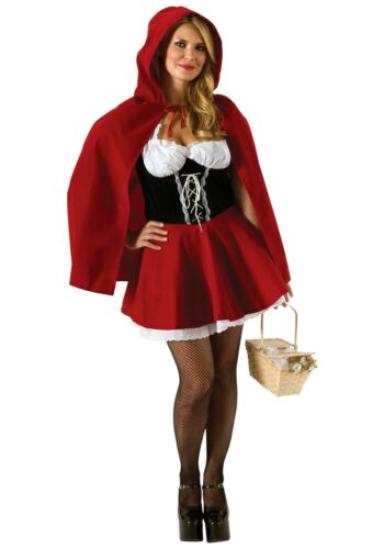 Deluxe Red Riding Hood Adult Costume Red Riding Hood Fancy Dress Sizes UK 6-14