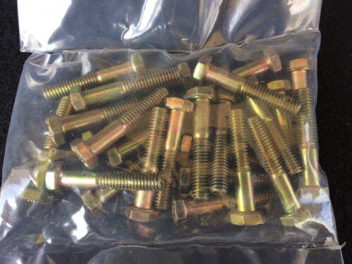"""Bag of 25 5//16-18 x 1-3//4/"""" Hex Bolt Zinc Plated Grade 8 Cap Screw Partial Thread"""