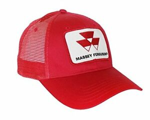 7a1188bf1e8 Red Massey Ferguson Tractor Logo Hat with Mesh Back 646180000753