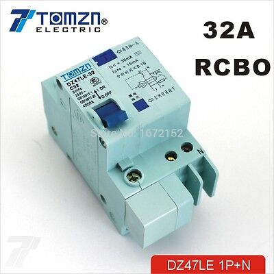 3P+N 10A DZ47LE-63 Circuit Protection Residual Circuit Breaker Overload and Short Circuit Protection Circuit Breaker