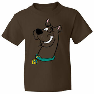 Scooby-Dooby-Doo-on-a-Brown-T-Shirt