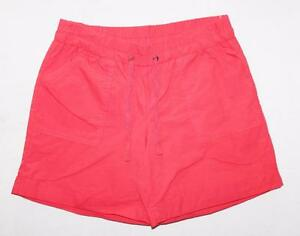 NOW-Brand-Red-Hibiscus-Poplin-Casual-Shorts-Size-10-S-BNWT-SV64