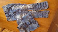 Sisley Jeans Set - Bolero Jacke+ Jeanshose Gr.L 140