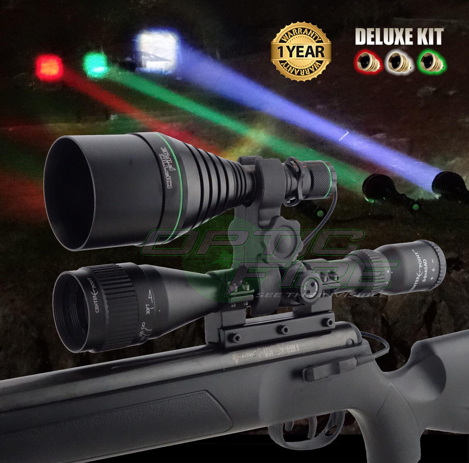 Opticfire ® XS 3 LED Luz de Lámpara Montaje Alcance Pistola De Lámpara de Antorcha Caza Lamping Kit De Lujo bde3fd