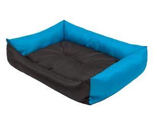 Lit pour chien Lieu de repos écologique Tapis pour chien Tapis pour chien Hobbydog Noir - Bleu