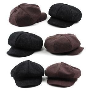 Unisex-Mens-Tweed-Slub-Baker-Boy-Flat-Cap-Newsboy-Cabbie-Gatsby-Driver-Hats