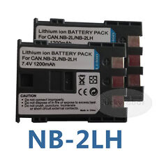 2X Battery for NB-2L NB-2LH Canon EOS 350D 400D G7 G9 ZR100 ZR200 ZR300 S70 S80