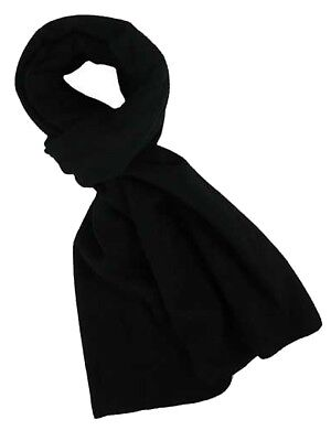 1 Mens Unisex Black Polar Fleece Scarf Thermal Winter Neckwear / One Size 100% Garantie