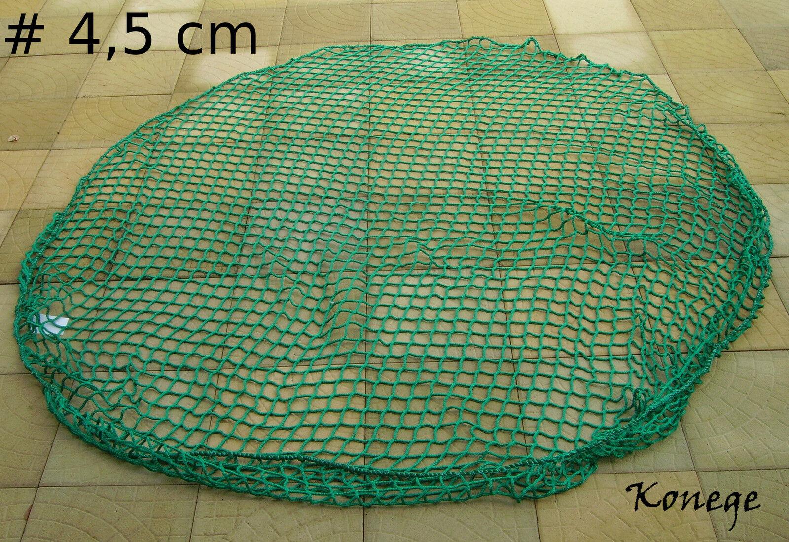 Heuraufennetz rossoondo, Ø 4,0m, MW 4,5cm, 5mm cordoncino tessuti, Heunetz per coprire