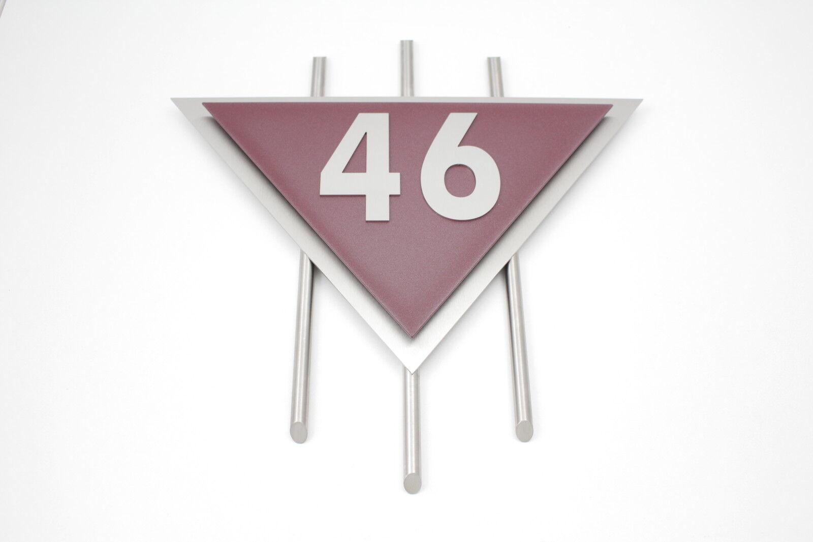 Hausnummer Edelstahl Bordeaux 2-stellig Design Venus 0-9 a-h a-h a-h A-H V2A Zierstangen | Umweltfreundlich  | Düsseldorf Online Shop  | ein guter Ruf in der Welt  0883d0