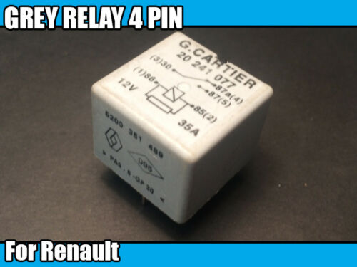 Grey Relay For Renault 20 241 077 8200 35 489 Electrical Car Component