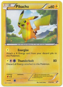 Pokemon Pikachu 115/114 Holo Foil ★ ITALIANO