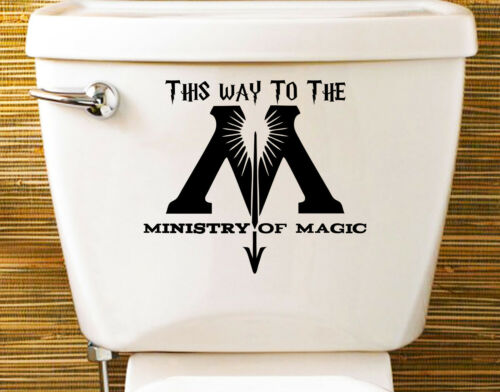 150x140mm Harry potter ministry of magic decal autocollant toilettes wc enfant chambre