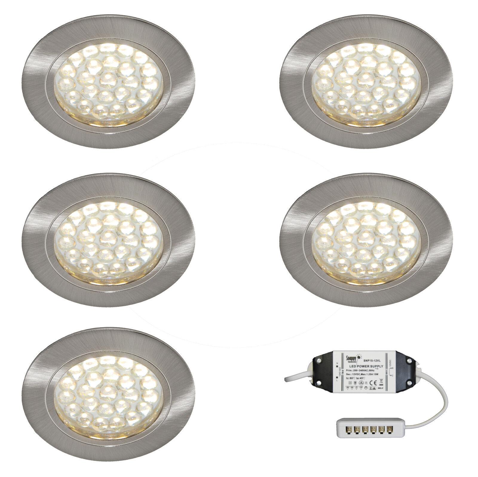 conveniente 5 x LED Ad Incasso Sotto Armadietto Armadio Da Da Da Cucina Scaffale KIT LUCE LED BIANCO CALDO  negozio outlet