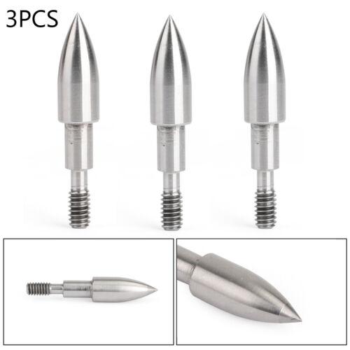 Silver-Bullet Tip Steel Bogenschießen Pfeilspitzen 100 Grains Für Praxis Silber