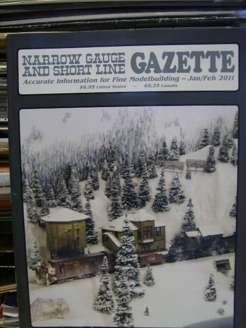 Narrow Gauge & Short Line Gazette Modelbuilding Magazine Jan Feb 2011