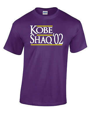 "Los Angeles Lakers Kobe Bryant /""Kobe Shaq /'02/""  T-shirt Shirt or Long Sleeve"
