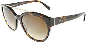 Giorgio-Armani-Women-039-s-Gradient-AR8086-502613-55-Brown-Oval-Sunglasses