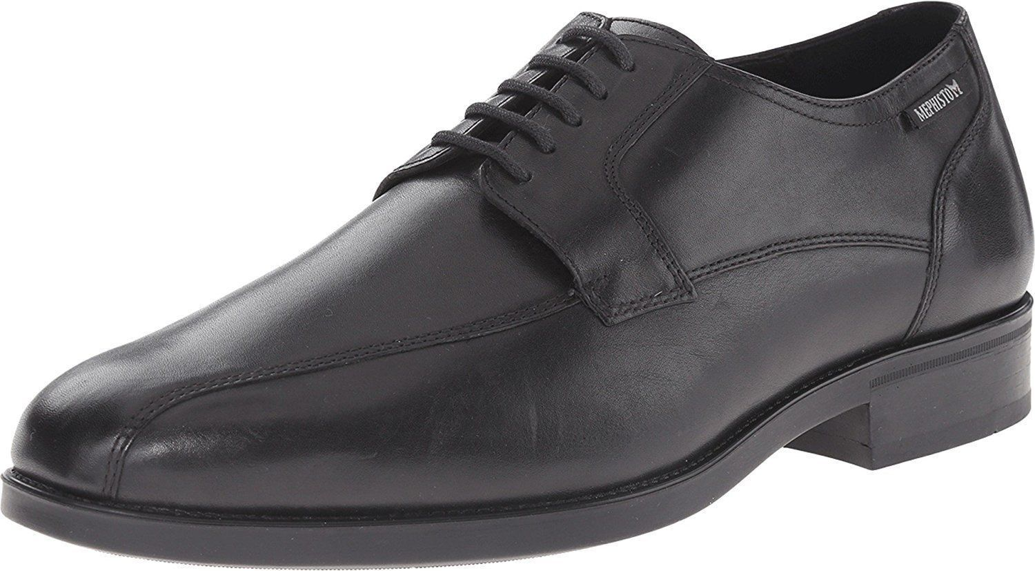 Mephisto Men's Connor Black Leather Comfortable Oxford Shoe