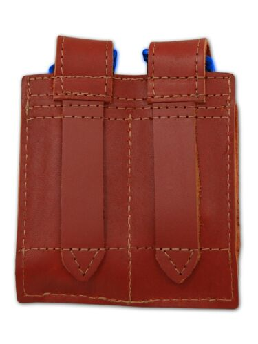 NEW Barsony Burgundy Leather Double Magazine Pouch Astra Beretta Full Size 9mm