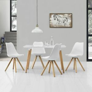 Esstisch mit 4 Stühlen weiß Lack 120x70cm Tisch Essgruppe Stühle | eBay