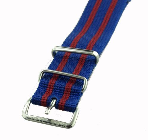 rot 20 mm Maurice Lacroix Uhrenband FC Barcelona Textilband blau